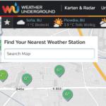 Wetterdaten von Wunderground
