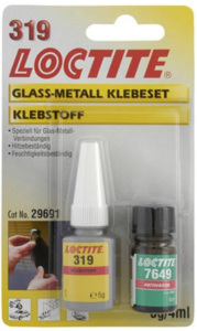 319 LOCTITE - Glas/Metall Klebeset - Glasbruchmelder für HomeMatic