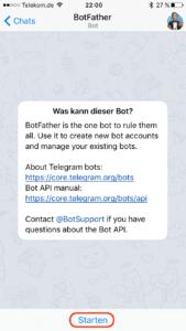 BotFather starten