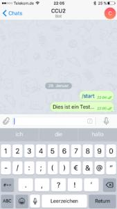 Bot - Nachricht gesendet