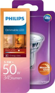 Philips GU10 Spot 5.5W / 345 Lumen warmweiss