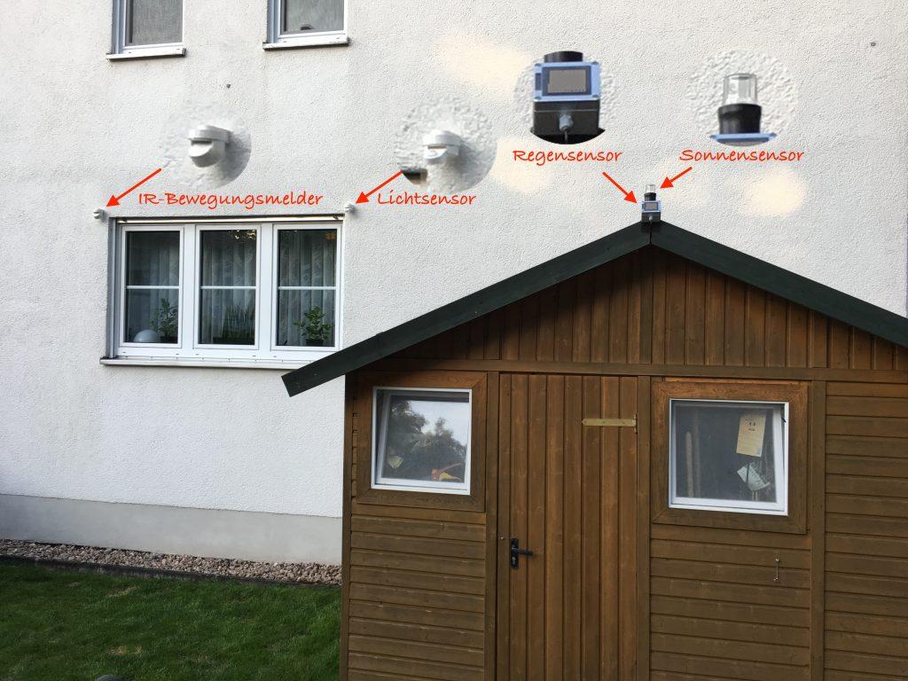 Sonnensensor und weitere HomeMatic Sensoren