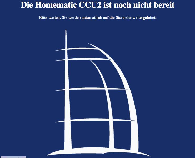 Die HomeMatic CCU2 ist nach der Zeitumstellung noch nicht bereit