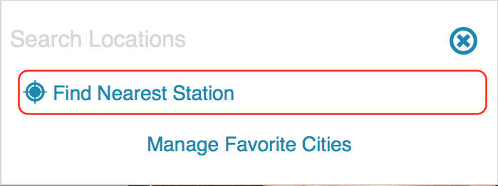 Wunderground - Find nearest Station